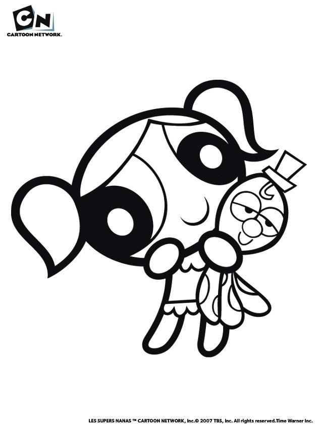 Coloriages bulle et son doudou - Coloriage super nana ...