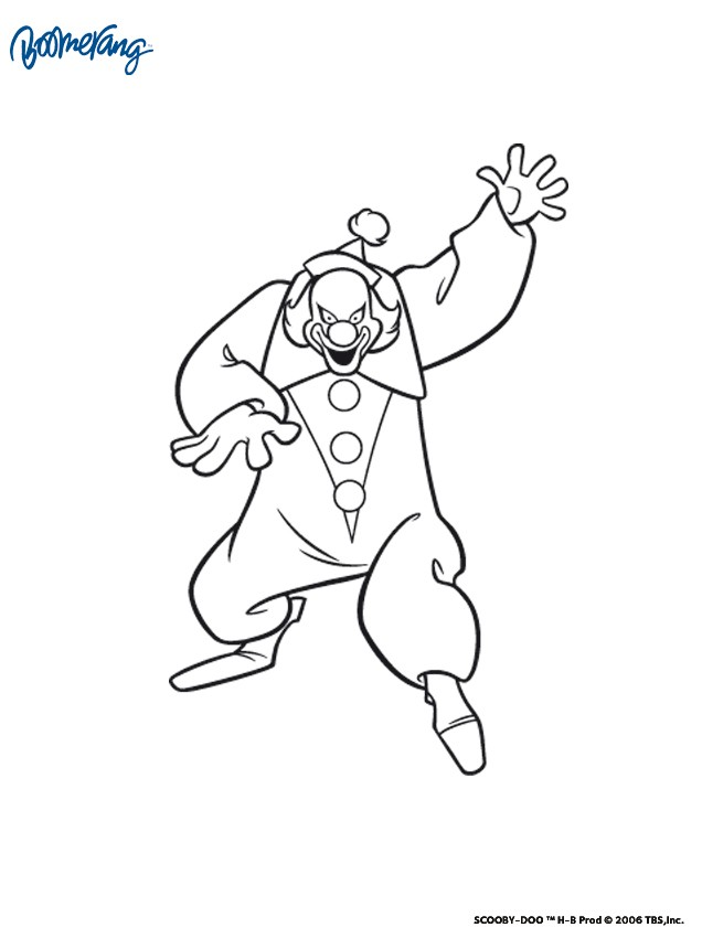 Coloriages coloriage du clown - Scoubidou gratuit ...