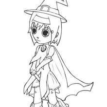 Coloriage en ligne de Ana déguisé en sorcière - Coloriage - Coloriage EN LIGNE - Coloriage EN LIGNE ANA