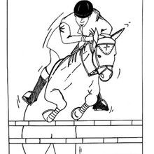 Coloriage : Jockey