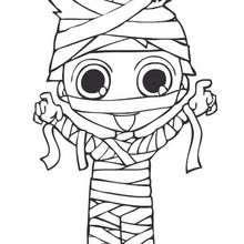 Coloriage en ligne de Teo en momie
