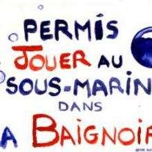 ...jouer au sous-marin dans la baignoire - Dessin - Dessin GRATUIT - Permis de...