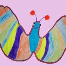 Dessiner un papillon - Dessin - Apprendre à dessiner - Dessiner avec ta main