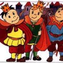 Dessin d'enfant : 3 princes