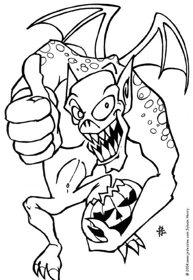 Coloriages coloriage d'un monstre d'halloween - fr ...