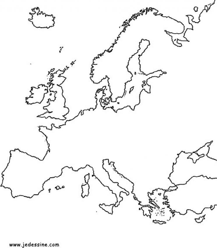 carte europe coloriage