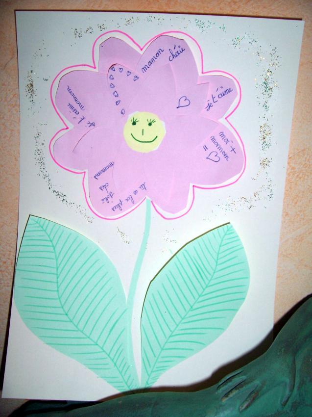 La fleur poème - Activités - Bricolage - Fête des mères