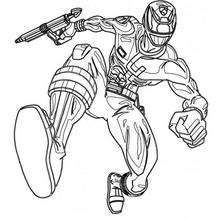 Coloriage d'une attaque - Coloriage - Coloriage DESSINS ANIMES - Coloriage POWER RANGERS - Coloriage POWER RANGERS A IMPRIMER