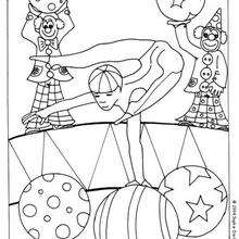 Coloriage d'un acrobate