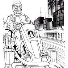 Coloriage de Action Man au volant