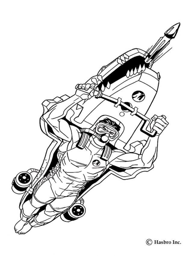 Coloriages action man sous l 39 eau - Dessin a colorier spiderman moto ...