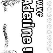 Adeline - Coloriage - Coloriage PRENOMS - Coloriage PRENOMS LETTRE A