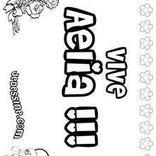 Aelia - Coloriage - Coloriage PRENOMS - Coloriage PRENOMS LETTRE A