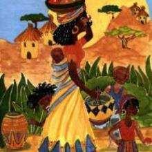 Dessin d'enfant : Africaine