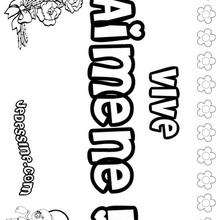 Aimene - Coloriage - Coloriage PRENOMS - Coloriage PRENOMS LETTRE A