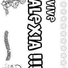Alexia - Coloriage - Coloriage PRENOMS - Coloriage PRENOMS LETTRE A