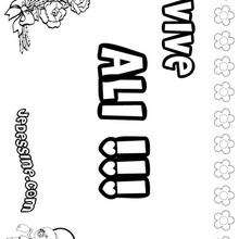 Ali - Coloriage - Coloriage PRENOMS - Coloriage PRENOMS LETTRE A