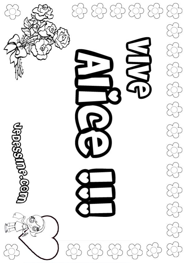 Coloriages alice - Coloriage alice ...