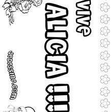 Alicia - Coloriage - Coloriage PRENOMS - Coloriage PRENOMS LETTRE A
