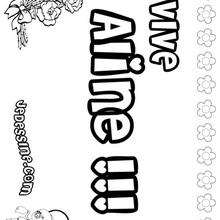 Aline - Coloriage - Coloriage PRENOMS - Coloriage PRENOMS LETTRE A