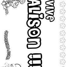 Alison - Coloriage - Coloriage PRENOMS - Coloriage PRENOMS LETTRE A