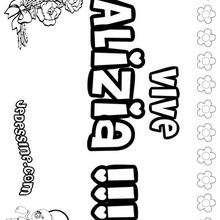 Alizia - Coloriage - Coloriage PRENOMS - Coloriage PRENOMS LETTRE A
