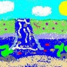 Allée tropicale - Dessin - Dessin PAYSAGES - Dessin PAYSAGES A COLORIER