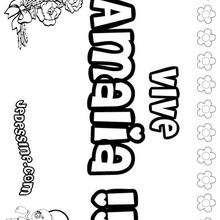 Amalia - Coloriage - Coloriage PRENOMS - Coloriage PRENOMS LETTRE A