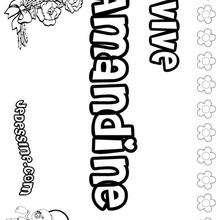 Amandine - Coloriage - Coloriage PRENOMS - Coloriage PRENOMS LETTRE A