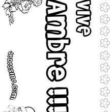 Ambre - Coloriage - Coloriage PRENOMS - Coloriage PRENOMS LETTRE A