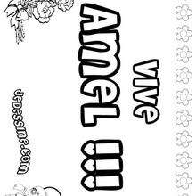 Amel - Coloriage - Coloriage PRENOMS - Coloriage PRENOMS LETTRE A