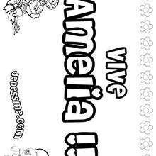 Amelia - Coloriage - Coloriage PRENOMS - Coloriage PRENOMS LETTRE A