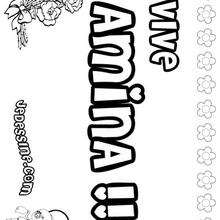 Amina - Coloriage - Coloriage PRENOMS - Coloriage PRENOMS LETTRE A