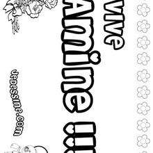 Amine - Coloriage - Coloriage PRENOMS - Coloriage PRENOMS LETTRE A