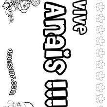 Anais - Coloriage - Coloriage PRENOMS - Coloriage PRENOMS LETTRE A