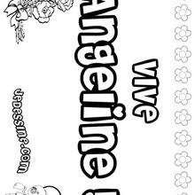 Angeline - Coloriage - Coloriage PRENOMS - Coloriage PRENOMS LETTRE A