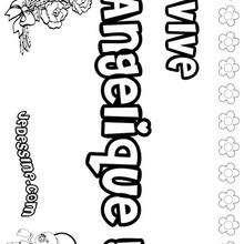 Angelique - Coloriage - Coloriage PRENOMS - Coloriage PRENOMS LETTRE A