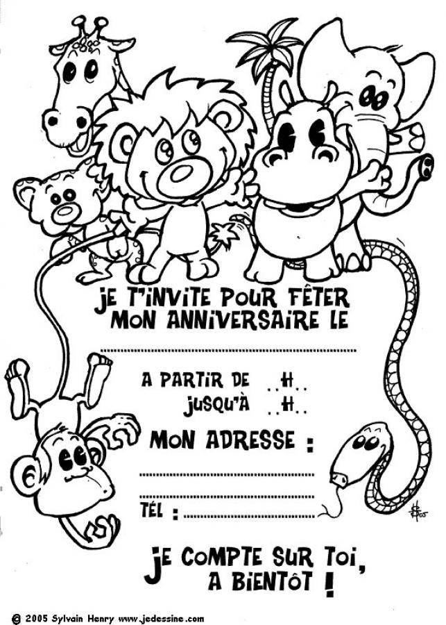 Coloriages coloriage d'animaux sauvages - fr.hellokids.com