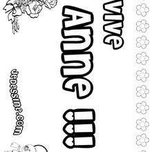 Anne - Coloriage - Coloriage PRENOMS - Coloriage PRENOMS LETTRE A