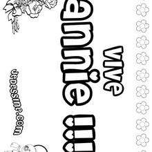 Annie - Coloriage - Coloriage PRENOMS - Coloriage PRENOMS LETTRE A