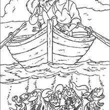 Coloriage Disney : Ariel et le prince
