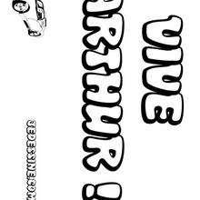 Arthur - Coloriage - Coloriage PRENOMS - Coloriage PRENOMS LETTRE A
