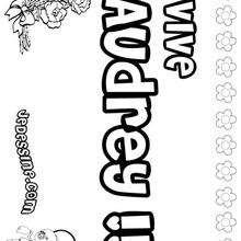 Audrey - Coloriage - Coloriage PRENOMS - Coloriage PRENOMS LETTRE A