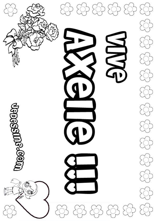 Coloriage : Axelle