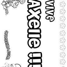 Axelle - Coloriage - Coloriage PRENOMS - Coloriage PRENOMS LETTRE A