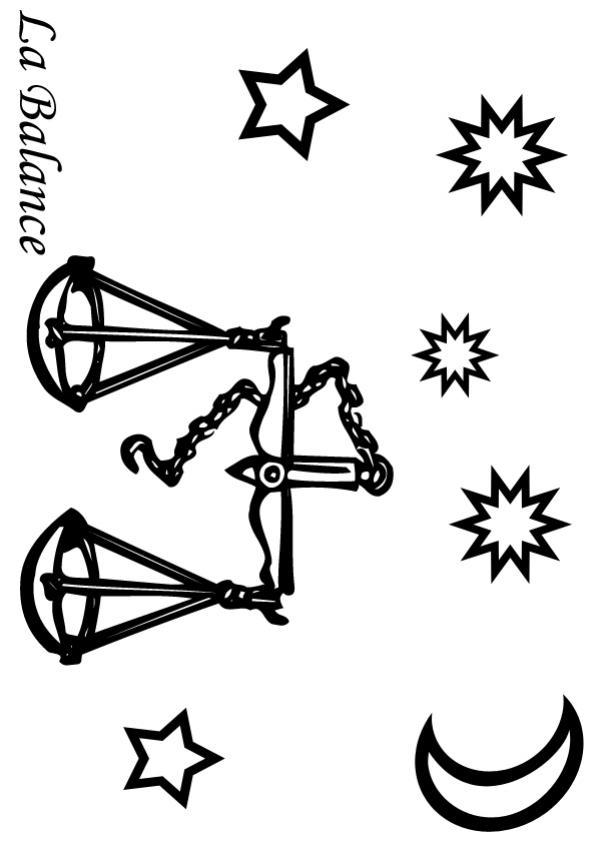 Balance - Coloriage - Coloriage des Signes du Zodiaque