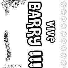 Barry - Coloriage - Coloriage PRENOMS - Coloriage PRENOMS LETTRE B