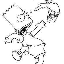 Coloriage du dérapage de Bart