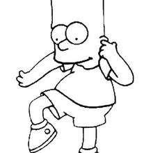Coloriage de la bêtise de Bart