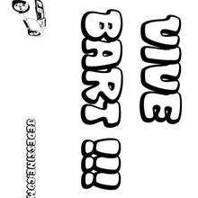 Bart - Coloriage - Coloriage PRENOMS - Coloriage PRENOMS LETTRE B